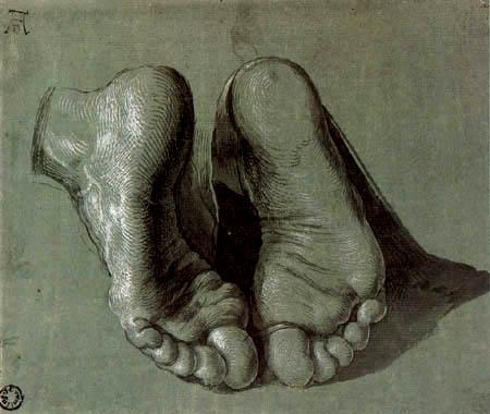 Albrecht Dürer - The feet of an apostle