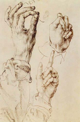 Albrecht Dürer - Étude de trois mains