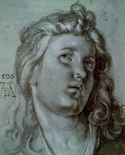 Albrecht Dürer - Kopf eines Engels
