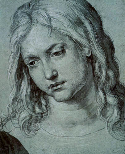Albrecht Dürer - The head of the twelve-year-old boy Jesus