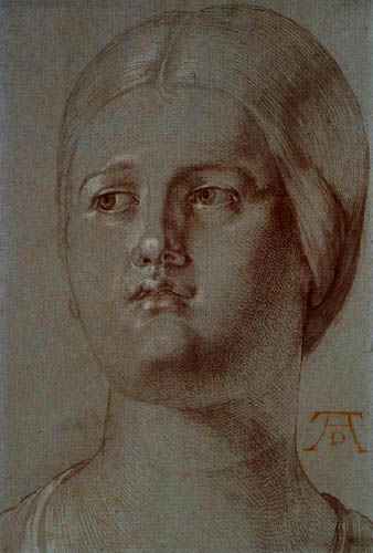 Albrecht Dürer - Head of a young woman