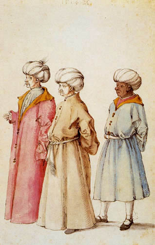 Albrecht Dürer - Three men from the Middle East