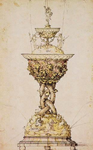 Albrecht Dürer - Entwurf für einen Tischbrunnen