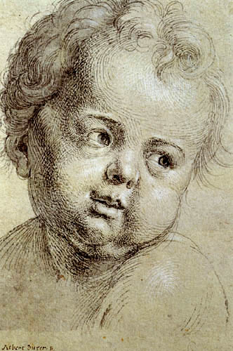 Albrecht Dürer - Kinderkopf nach rechts schauend