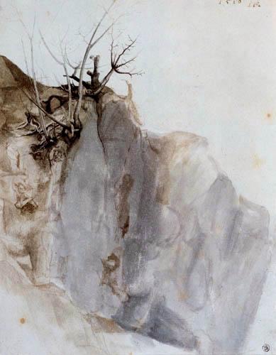 Albrecht Dürer - Une caverne de roche