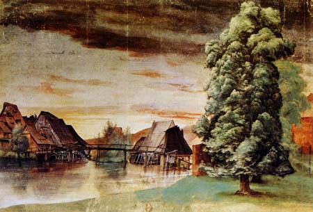 Albrecht Dürer - Weidenmühlen an der Pegnitz