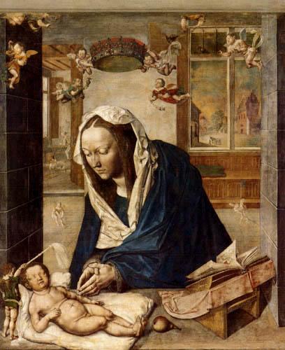 Albrecht Dürer - Die Anbetung des Kindes