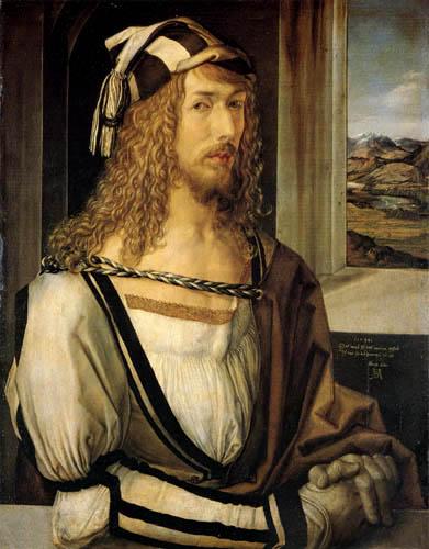 Albrecht Dürer - Selbstbildnis mit Handschuhen