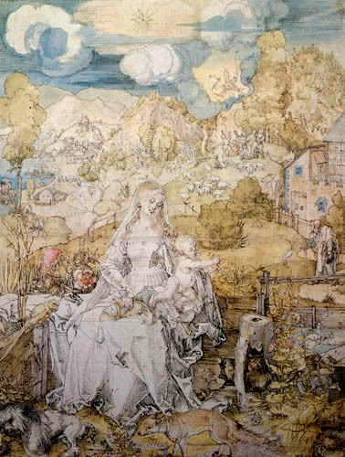 Albrecht Dürer - Die Jungfrau der Tiere