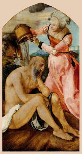 Albrecht Dürer - Hiob und seine Frau
