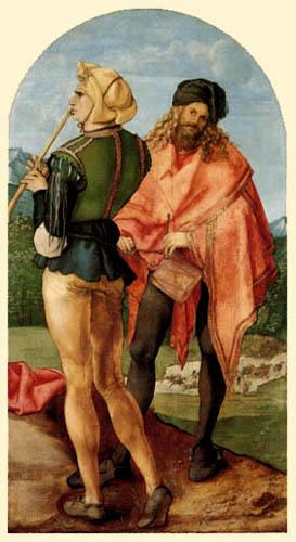 Albrecht Dürer - Zwei Musikanten