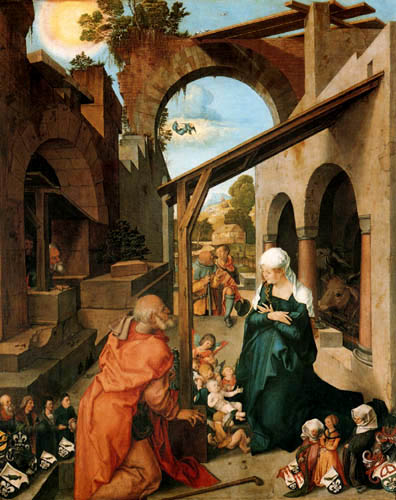 Albrecht Dürer - Der Paumgartner-Altar, Die Geburt Christi
