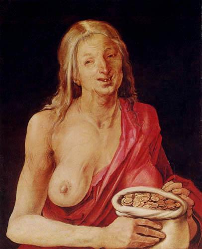 Albrecht Dürer - Die Habsucht