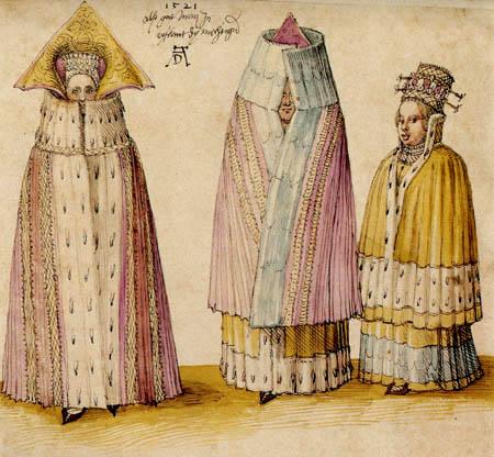 Albrecht Dürer - Three garment