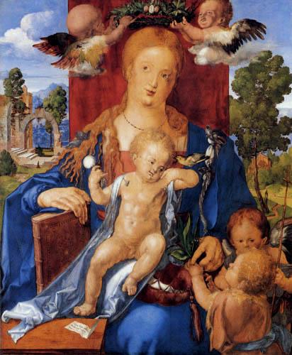 Albrecht Dürer - Die Madonna mit dem Zeisig