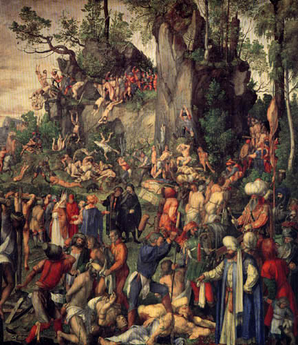 Albrecht Dürer - Das Martyrium der Zehntausend