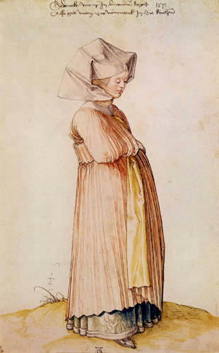 Albrecht Dürer - A Woman of Nuremberg in Church Clothes