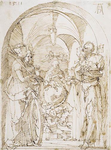 Albrecht Dürer - Maria mit vier Heiligen