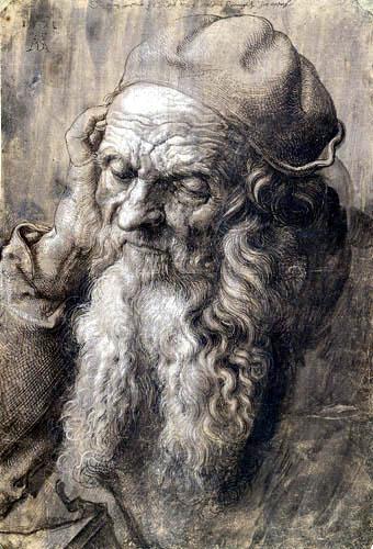 Albrecht Dürer - Kopfstudie eines alten Mannes