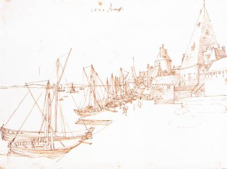 Albrecht Dürer - Der Hafen von Antwerpen