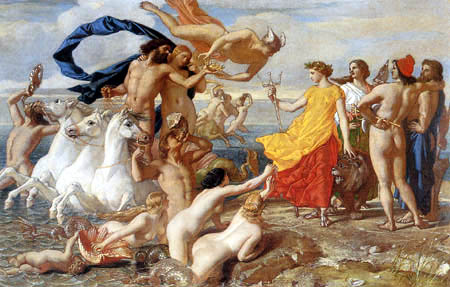 William Dyce - Neptun überlässt Britannia die Herrschaft