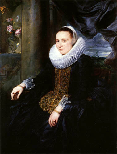 Sir  Anthonis van Dyck - Portrait of Margareta Snyders