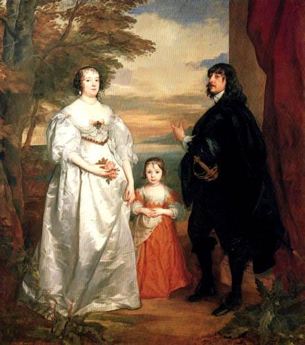 Sir  Anthonis van Dyck - James, der VII. Earl von Derby mit Frau und Kind