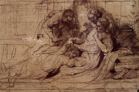 Sir  Anthonis van Dyck - Samson und Delila, Studie