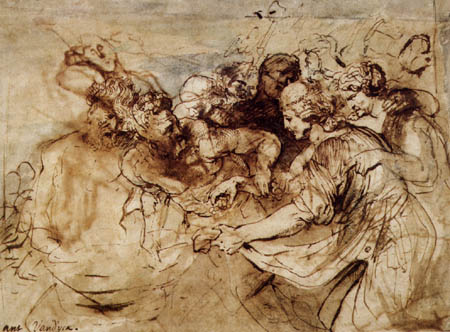 Sir  Anthonis van Dyck - Studie, Bacchanal