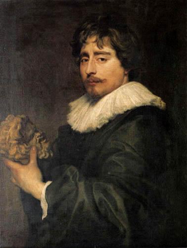 Sir  Anthonis van Dyck - Portrait of Francois Duquesnoy