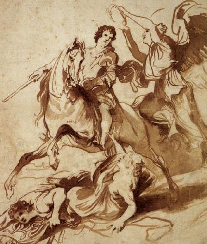 Sir  Anthonis van Dyck - Victoria krönt den Heerführer