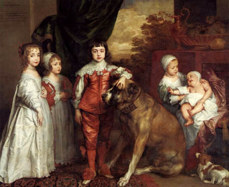 Sir  Anthonis van Dyck - The five eldest children of Charles I.