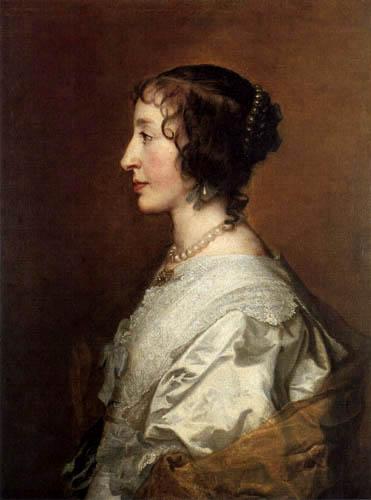 Sir  Anthonis van Dyck - Portrait of Henrietta Maria