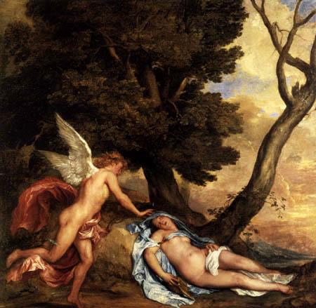 Sir  Anthonis van Dyck - Cupid and Psyche