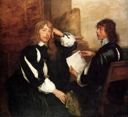 Sir  Anthonis van Dyck - Thomas Killigrew mit einem Freund