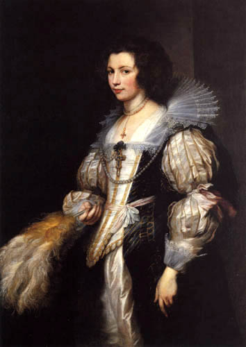 Sir  Anthonis van Dyck - Marie Louise of Taxis
