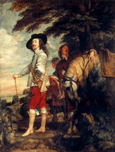 Sir  Anthonis van Dyck - The king on the hunt