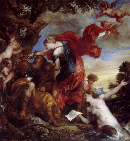 Sir  Anthonis van Dyck - Rinaldo and Armida