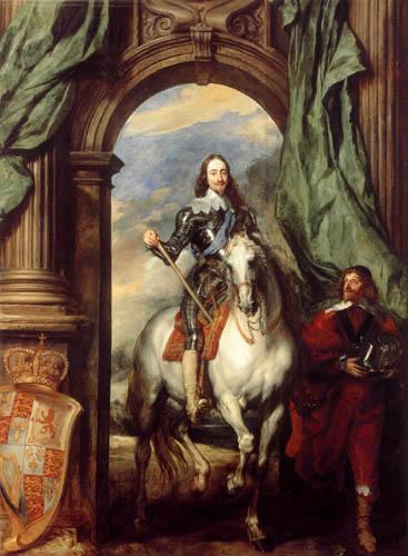Sir  Anthonis van Dyck - Reiterporträt Karls I.