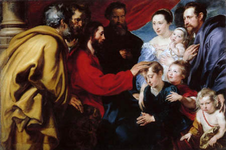 Sir  Anthonis van Dyck - Christ and the children