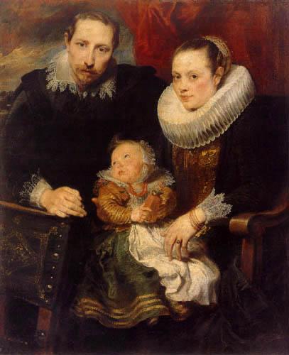 Sir  Anthonis van Dyck - Porträt einer Familie