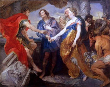 Sir  Anthonis van Dyck - The Generosity of Scipio