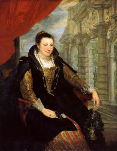 Sir  Anthonis van Dyck - Porträt der Isabella Brant