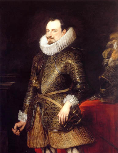 Sir  Anthonis van Dyck - Emanuele Filiberto of Savoyen