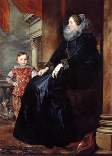 Sir  Anthonis van Dyck - A noble lady from Genova with son