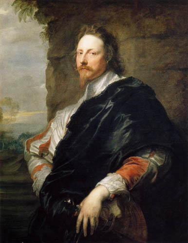 Sir  Anthonis van Dyck - Portrait of Nicolas Lanier