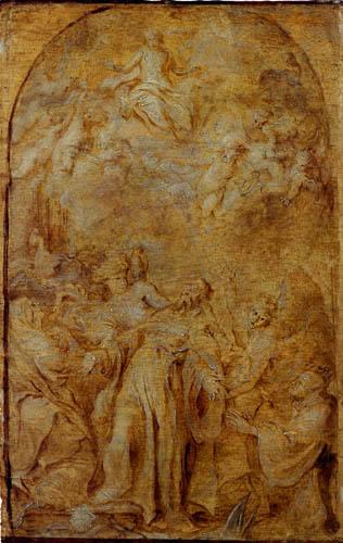 Sir  Anthonis van Dyck - Saint Augustine