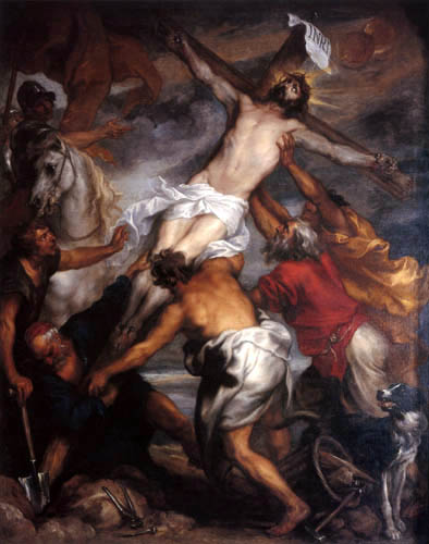Sir  Anthonis van Dyck - The Elevation of the Cross