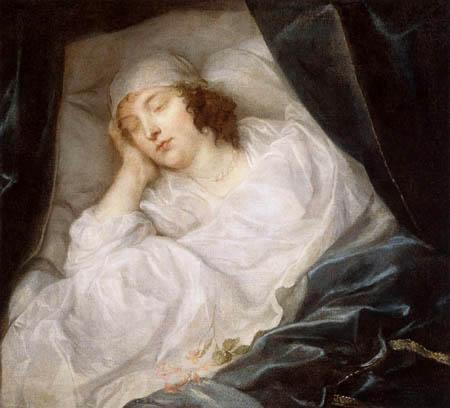 Sir  Anthonis van Dyck - Venetia Digby on his deathbed