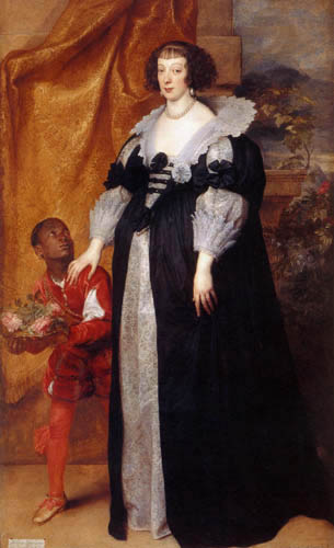 Sir  Anthonis van Dyck - Portrait of Henriette of Lothringen